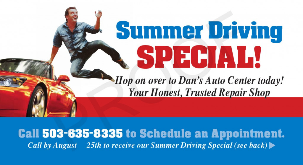Summer Driving Special